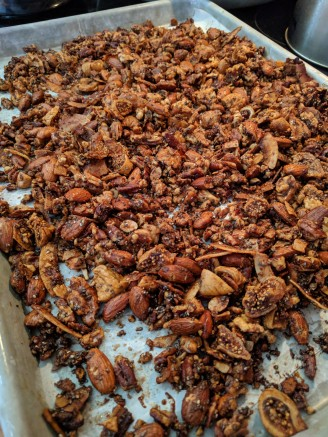 Granola straight out the oven.